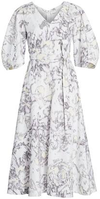 3.1 Phillip Lim Abstract Daisy Poplin Dress