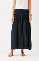 J. Jill Smocked-Waist Maxi Skirt