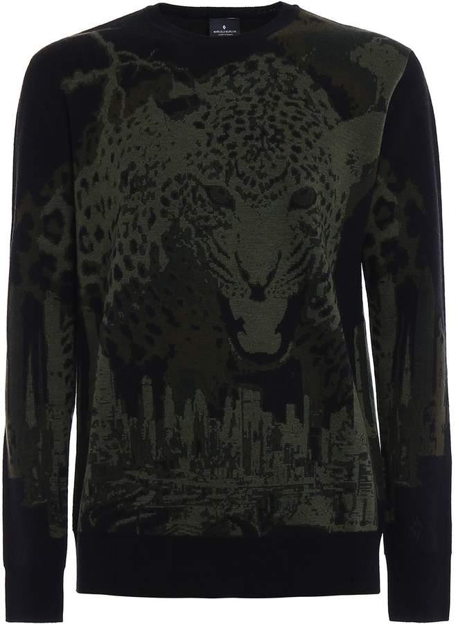 Marcelo Burlon County of Milan Sulupe Wool Jacquard Sweater