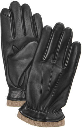 Club Room Men Cashmere Lined Leather Gloves