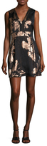 Nicole Miller Firework Flower Jacquard Flared Dress