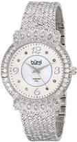 Burgi Women's Exquisite Diamond Watch with Silver-Tone Dial and Band BUR120SS