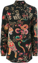 Etro floral tiger print shirt - women - Silk - 40