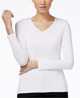 Calvin Klein Long-Sleeve V-Neck T-Shirt