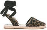 Sophia Webster Juana Leather-trimmed Jacquard Espadrilles - Leopard print