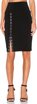 Norma Kamali Side Snap Skirt to Knee
