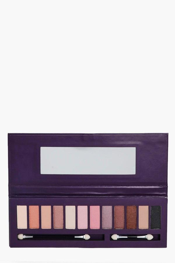 boohoo Pretty Professional Natural Eye Palette brown