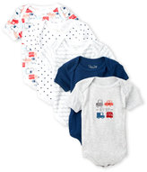 Rene Rofe Newborn/Infant Boys) 5-Pack Beep Beep Bodysuits