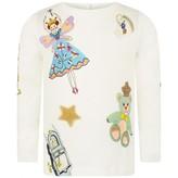 Dolce & Gabbana Dolce & GabbanaBaby Girls White Fairytale Top