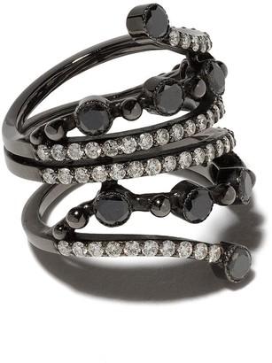 Colette 18kt Black Gold Diamond Wrap Ring