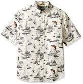 Woolrich Men's Walnut Run Modern Fit Printed Shirt