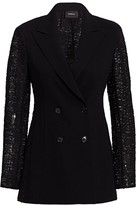 Akris Gaia Embroidered Back Wool Jacket