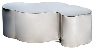 """Statements By J Tanksley Solid Coffee Table Color: Silver, Size: 16"""" H x 31"""" L x 19"""" W"""