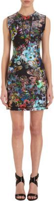 Cynthia Rowley Multicolored Floral Sleeveless Dress