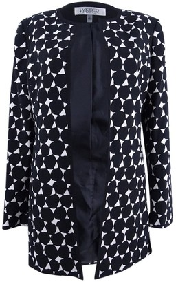 Kasper Women's Large Dot Printed Topper