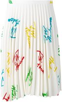 J.W.Anderson signature pleated midi skirt