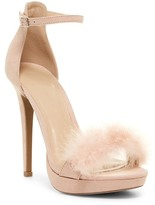 Wild Diva Lounge Madden Feather Platform Stiletto Sandal