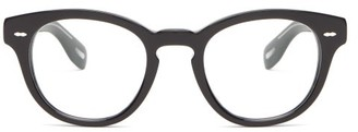 Oliver Peoples Cary Grant Round Acetate Glasses - Black