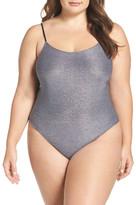 Only Hearts Metallic Thong Bodysuit (Plus Size)