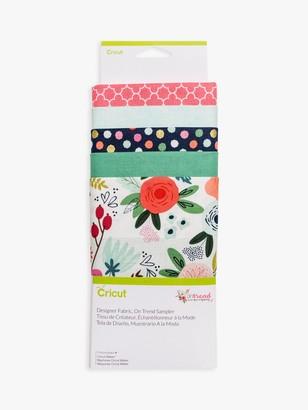 Cricut Designer Fabric On Trend Samplers, Pack of 5, Multi