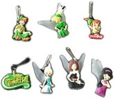 Hermes 7 pcs Peter Pan Tinkerbell Zipper Pull Charms for Jacket Backpack Bag Pendant / Zip pieces Zip Pendentif, decoration pour la Veste, Sac