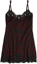 Dolce & Gabbana Lace-Trimmed Stretch-Silk Georgette Chemise