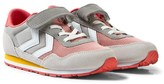 Hummel Grey and Pink Rose Dawn Reflex Jr Trainers