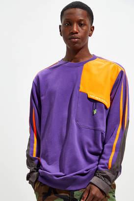 Les Benjamins Colorblock Utility Fleece Crew Neck Sweatshirt