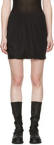 Rick Owens Black Bud Shorts