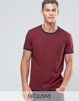 Jack Wills Ringer T-Shirt In Regular Fit In Damson Exclusive