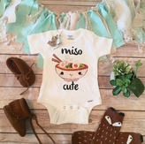 Etsy Miso Cute Onesie®, Baby Shower Gift, Unisex Baby Clothes, Baby Boy Clothes, Funny Onesies, Sushi One