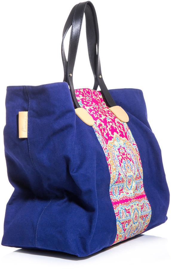 Carven Canvas paisley-print bag