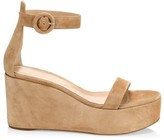 Gianvito Rossi Suede Platform Wedge Sandals