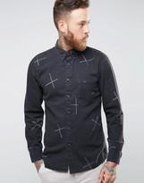 Nudie Jeans Stanley Chalk Print Shirt