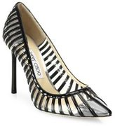 Jimmy Choo Romy Patent Leather & PVC Cap Toe Pumps