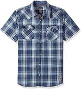 Buffalo David Bitton Men's Simila Short Sleeve Fashion Plaid Button Down Shirt
