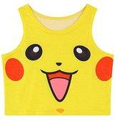 Orlesp Pokemon Go! Women Bustier Crop Top Skinny T-Shirt Sports Dance Tops Vest Tank