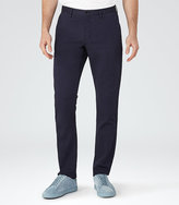 Reiss Buster Cotton And Linen Trousers