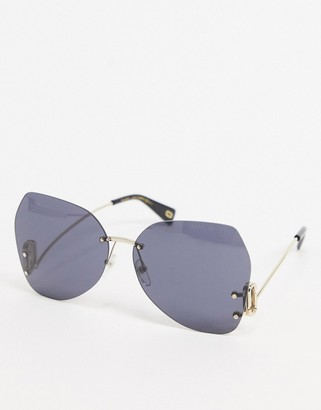 Marc Jacobs Mark Jacobs sunglasses in gold frame