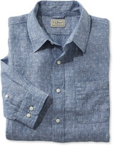 L.L. Bean Linen Shirt, Slightly Fitted Long-Sleeve Bird's-Eye