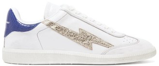 Isabel Marant Bryce Lightening-applique Leather Trainers - Blue White