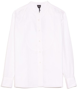 Aspesi Mock Neck Blouse in White