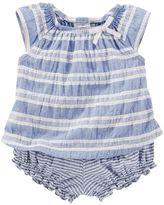 Osh Kosh Baby Girl Striped Seersucker top & Bloomers Set