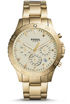 Fossil Crewmaster Sport Chronograph Gold-Tone Stainless Steel Watch