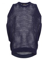 Jaeger Lace Stitch Cut-Out Sweater