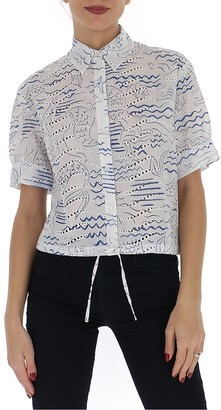 Kenzo Mermaid Print Short-Sleeve Shirt