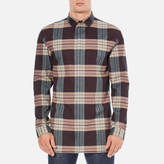 Helmut Lang Heritage Plaid Shirt Wine