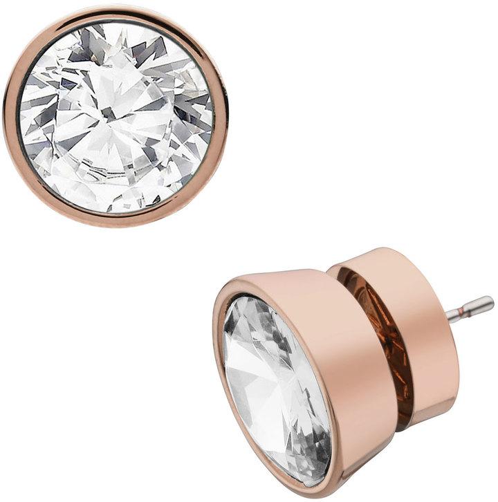 Michael Kors Crystal Stud Earrings, Rose Golden
