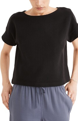 Madewell Twill Jacquard Boxy Crop T-Shirt