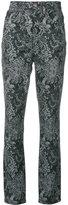 Marc Jacobs paisley print trousers - women - Cotton - 25